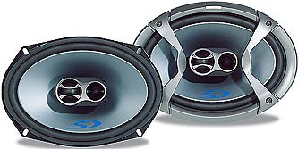 Alpine Type-S SPS-69C3 - Car speaker - 50 Watt - 3-way - coaxial - 6