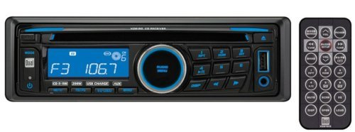 Dual XD6150 AM/FM/CD Receiver with 3.5mm Auxiliary Input, USB Charging Port and Detachable Face