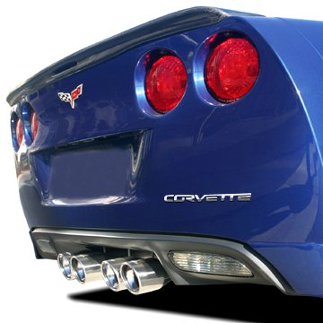 Corvette C6 Rear Bumper Letters Insert, Chrome