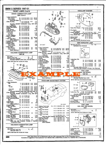 1984 - 1995 CHEVROLET CORVETTE PART NUMBERS, LABOR & PRICE ILLUSTRATED SHEETS