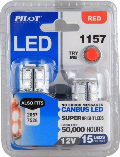 Pilot Automotive (IL-1157R-15) Red 15-SMD LED Turn/Tail Light Bulb - 2 Piece