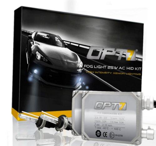 OPT7® Bolt AC Fog Light 25w HID Kit - 880 890 Series (5000K, Intense White)