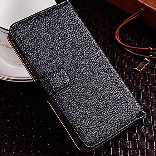 myLife Stylish Black - Classic Design - Koskin Faux Leather (Card, Cash and ID Holder + Magnetic Detachable Closing) Slim Wallet for NEW Galaxy S5 (5G) Smartphone by Samsung (External Rugged Synthetic Leather With Magnetic Clip + Internal Secure Snap In Hard Rubberized Bumper Holder)