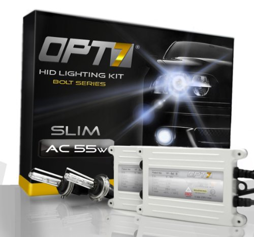 OPT7® Bolt AC 55w HID Xenon Conversion Kit - 9006 (6000K, Lightning Blue) - 2 Year Warranty