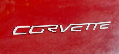 C6 Corvette Rear Stainless Steel Inserts - Letters
