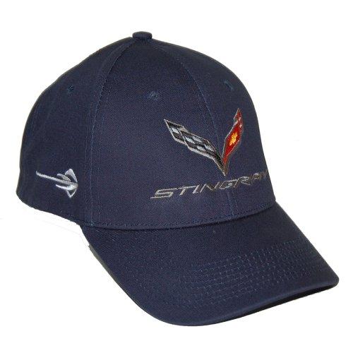 Corvette C7 Stingray Dark Blue Twill / Cotton Hat Cap - Embroidered Logo
