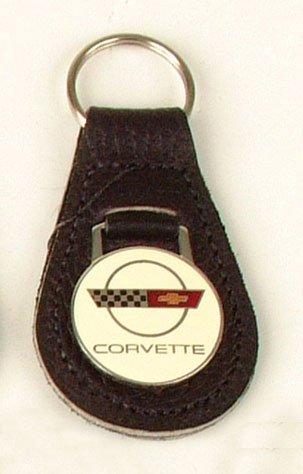 C4 Corvette Black Leather Key Fob