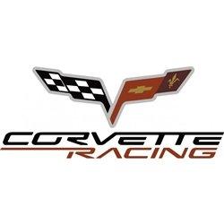 Corvette Accessories Unlimited C6 Corvette Racing Logo Red/White/Black Small Decal