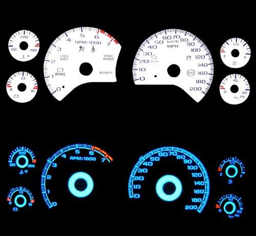 97-04 Chevy Corvette White Glow Gauges