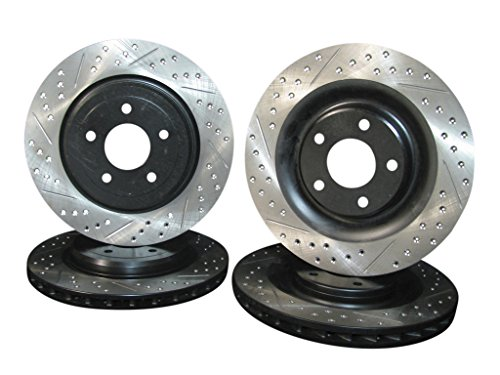 2006 thru 2013 Chevrolet Corvette Z06 Front & Rear Brake Disc Rotors +Pads