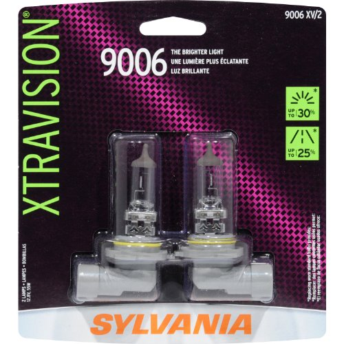 SYLVANIA 9006 XtraVision Halogen Headlight Bulb, (Pack of 2)