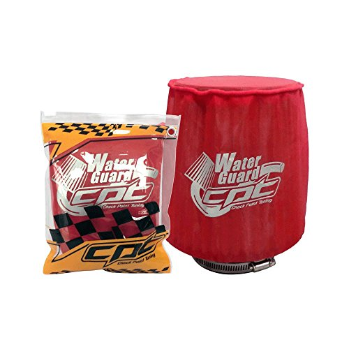 CPT Check Point Tuning CPT-WG-M-R Water Guard Cold Air Intake Pre Filter Cone Filter Cover for Medium Red