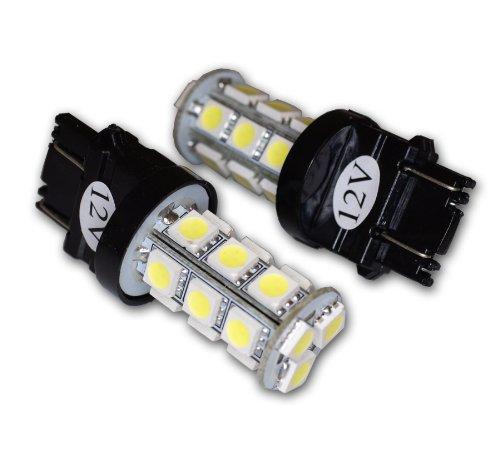 TuningPros LEDFS-3157-WS18 Front Signal LED Light Bulbs 3157, 18 SMD LED White 2-pc Set