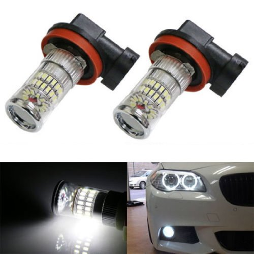 iJDMTOY X-Bright White 48-SMD H11 H8 LED Bulbs w/ Reflector Mirror Design For Fog Lights