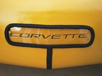 Front License Plate Lettering Inlay Decal - C5 Corvette 97-04 - (Color: Reflective Light Silver)