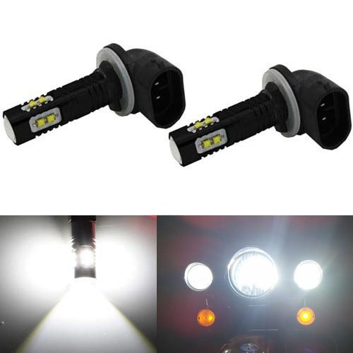 JDM ASTAR Extremely Bright Max 50W High Power 881 CREE LED Bulbs for DRL or Fog Lights, Xenon White