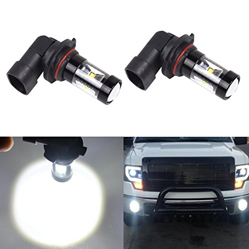 JDM ASTAR Extremely Bright Max 30W High Power 9040, 9140, 9145, 9050, 9155, H10 LED Bulbs for DRL or Fog Lights, Xenon White