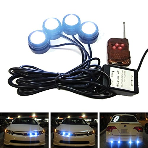 iJDMTOY 4-piece High Power LED Eagle Eyes Knight Rider Lighting Kit For Daytime Running Lights, Driving Fog Lights