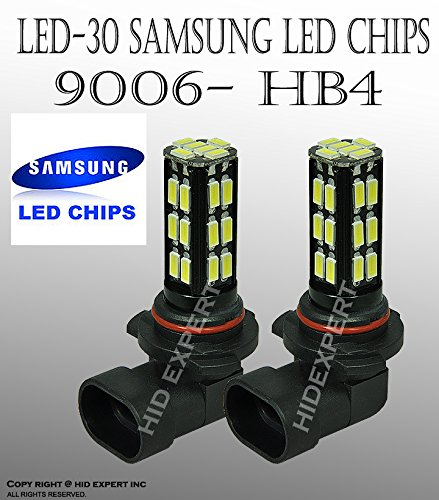 JDM 30 LED pair 9006 HB4 Samsung Chips Fit:Fog Light Only White Replace Bulbs