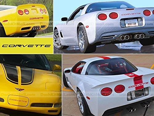 Chevrolet Corvette C5 1997 1998 1999 2000 2001 2002 2003 2004 Front & Rear Bumper Letter Inserts Not Decals - Red