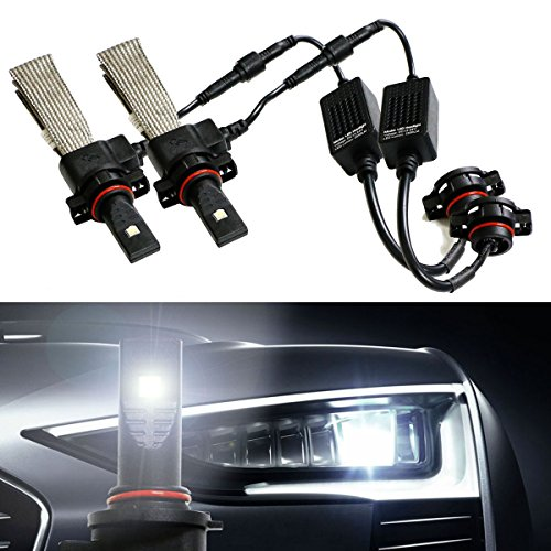 6000K Xenon White HID-Matching 40W High Power CREE LED Conversion Kit For Headlights, Driving DRL Lights and Fog Lights (Bulb Size 5202 2504 9009 PSX24W)