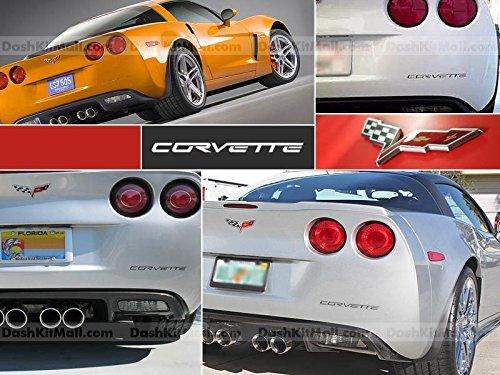 Chevrolet Corvette C6 2005 2006 2007 2008 2009 2010 2011 2012 Rear Bumper Letter Insert Not Decals - Black