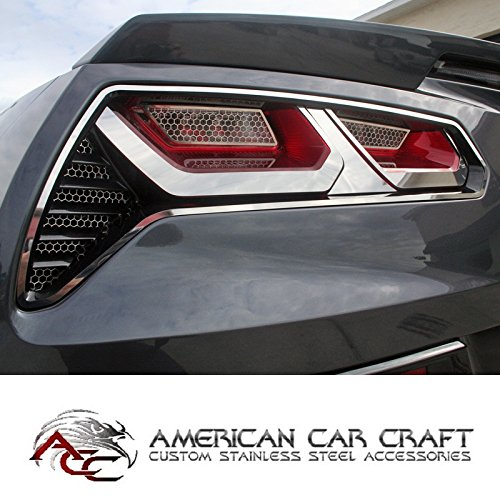 C7 Corvette Stingray Tail Light Trim Kit Polished Stainless Steel Taillights Fits: All 14 through 16 Corvettes