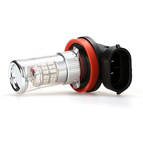 iDlumina H11 12V 24V 6500K Pure White LED Car Light Bulb 48X3014SMD for Fog Light (Pack of 2)