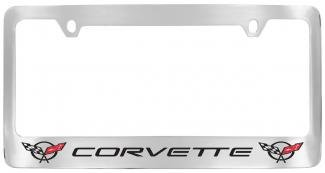 C5 Corvette License Plate Frame with C5 Flags