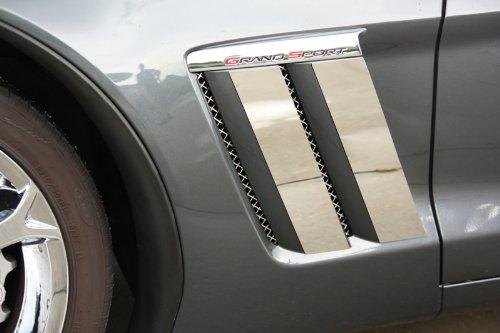 American Car Craft Chevrolet Corvette 2010 2011 2012 2013 Grand Sport Chrome Fender Side Vent Panels Trim Kit