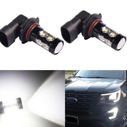 JDM ASTAR Extremely Bright All Size Max 50W High Power LED Bulbs for DRL or Fog Lights, Xenon White (H10 9145)